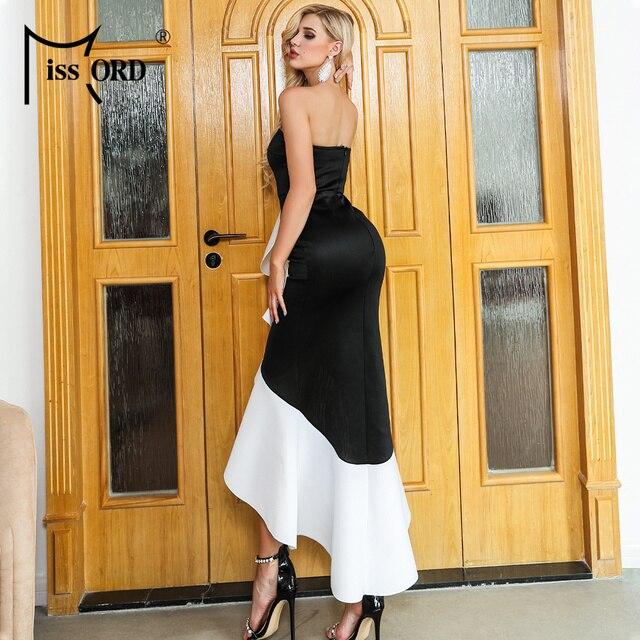Missord 2019 Women Summer Sexy Off Shoulder Backless Dresses Female Ruffles Elegant Dress   FT19535 2
