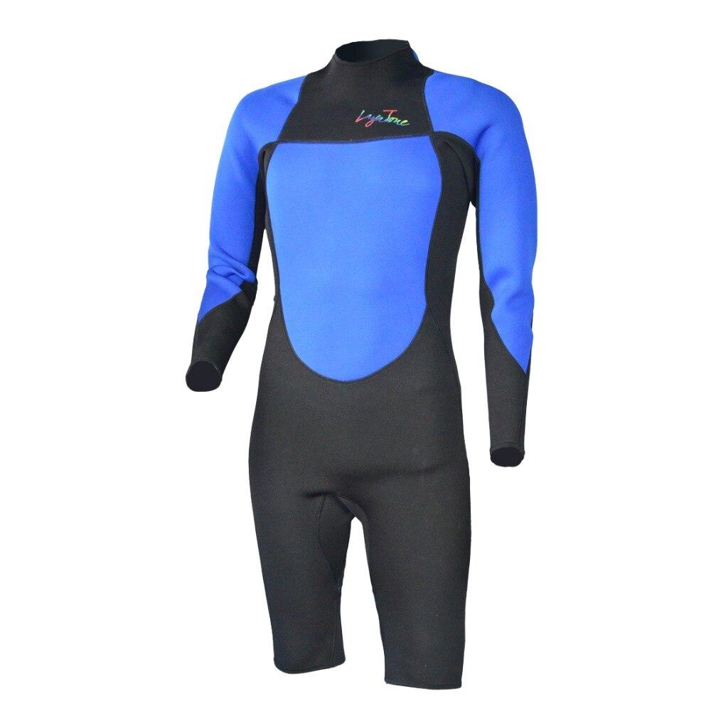 Layatone 3mm néoprène combinaison Shorts hommes combinaison de plongée femmes-surf plongée en apnée combinaison de plongée une pièce maillot de bain-combinaison humide