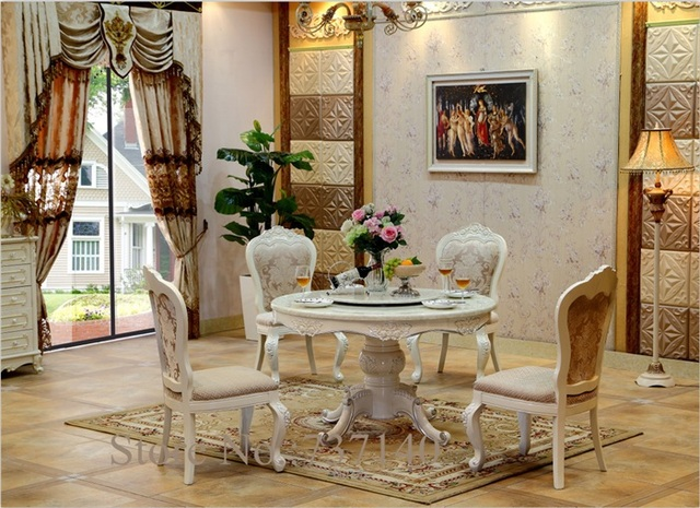 Bianco mobili in legno tavolo da pranzo in marmo tavolo da pranzo ...