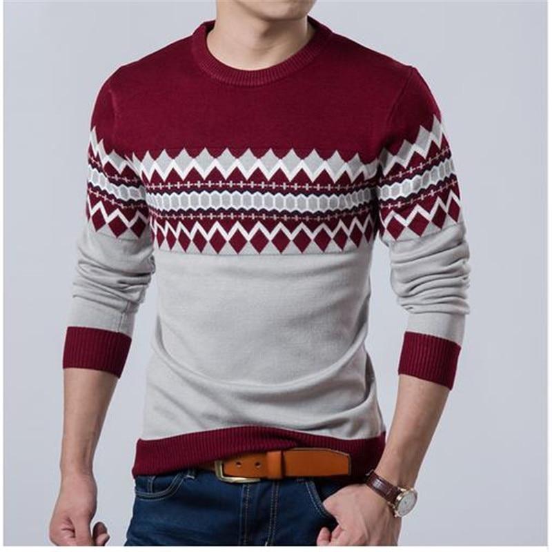 2017 Baru Musim Gugur Merek Fashion Kasual Sweater O-Neck Slim Fit - Pakaian Pria - Foto 2