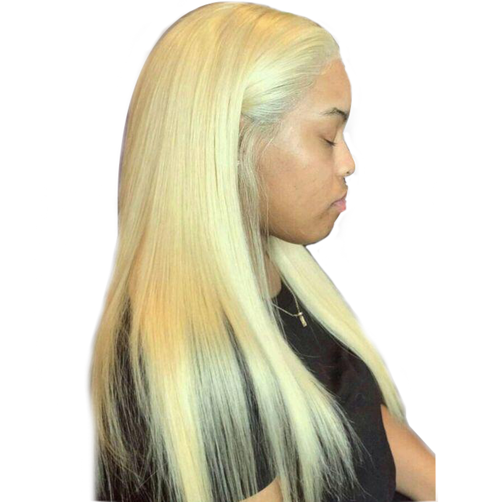Sapphire 613 Blonde Human Hair 4 4 Lace Front Wig Pre plucked With Baby Hair Straight