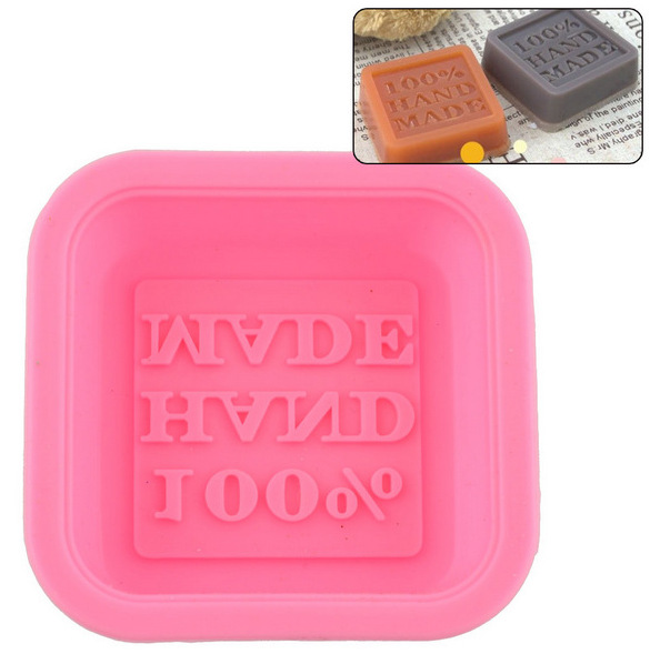 100% Hand made 3D Square Shape Design Hand Made DIY Silicone Mold Soap Mold Fondant Cake Decorating Tools Soap Make