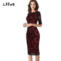New Fashion Womens Elegant Delicate Floral Lace Casual Party Evening Bodycon Special Occasion Bridemaid Mother Of