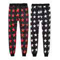 ISTider Men Women Casual Pants All Stars Print Harem Pants Men Jogger Pants Outdoors Trousers Hip Hop Pants Black Red Blue