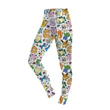 Summer Autunm Leggings Cartoon Pokemon GO Pikachu Print Women Legging Sexy Leggins Woman High Waist Legins Pants