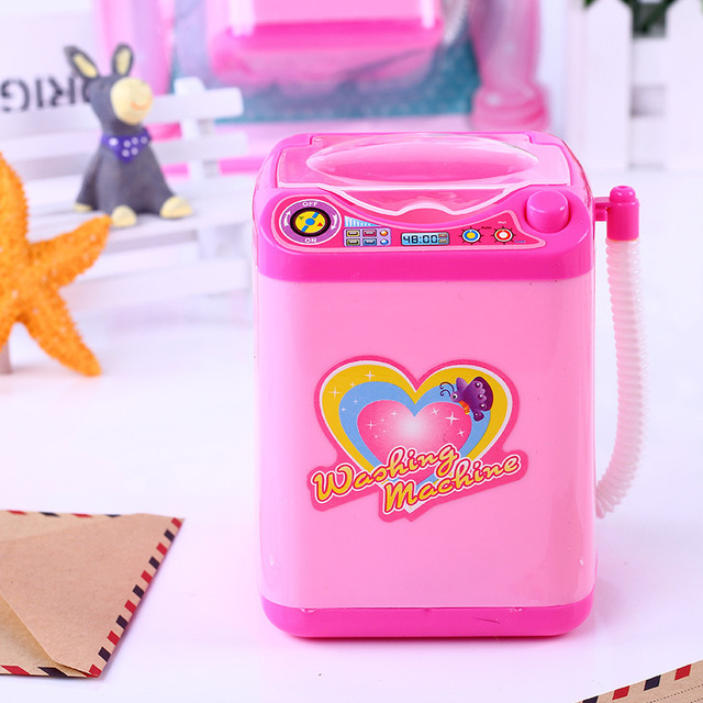 Play House Home Simulation Q Version Small Household Appliances Mini Washing Machine Toys Electric Children New Strange Toy Gift 1