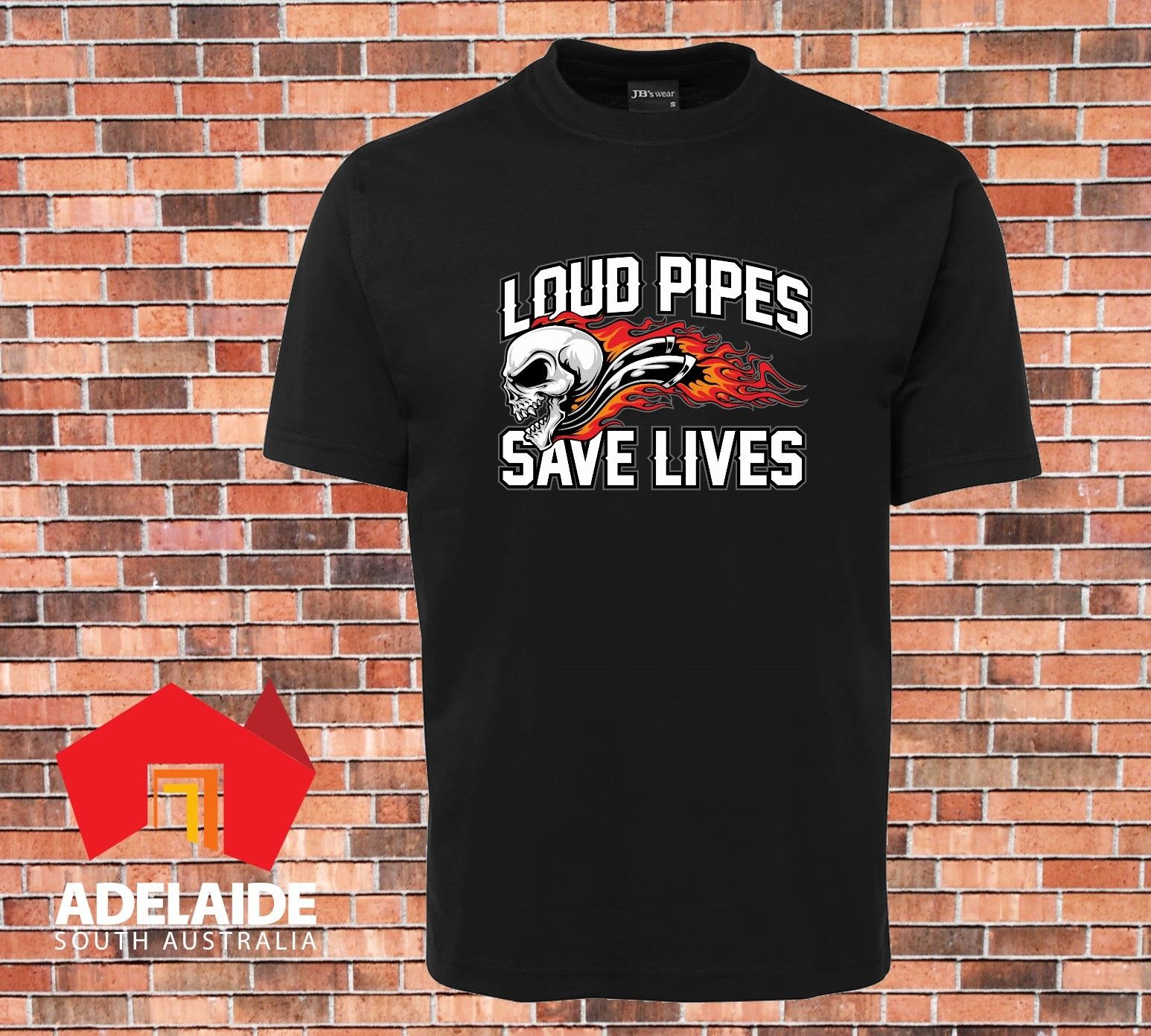 2018 Hot Sale 100% cotton T-shirt DTG Printed Loud Pipes Saves Lives Sizes S to 7XL Motorcycle, Cars Tee shirt