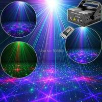 Mini RGB 300Mw Laser 24 Patterns Projector Green Full Stars Red Green Blue Club Party Bar