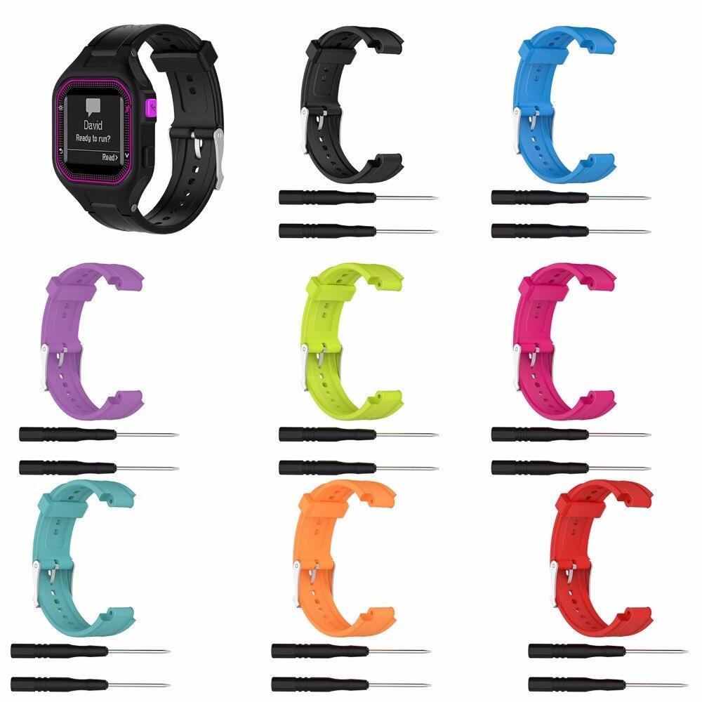 XBERSTAR Wristband Strap for Garmin Forerunner 25 GPS Running Watch Women/Men Silicone Sport Watchband Straps цена