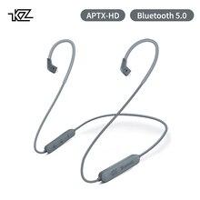 Kz aptx 2pin 5.0 bluetooth cabo csr8675 módulo bluetooth 0.78 fone de ouvido cabo de atualização para zst zs10 as16 zsn as10 ba10 zsr zs10pro