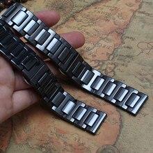 Reemplazar nuevo de Alta calidad De Cerámica pulsera de la correa Negro band hombres 20mm NEGRO correa de Reloj venda de reloj de cerámica PARA EL engranaje S2 accesorios