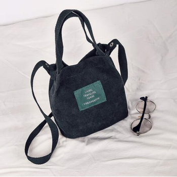 XINGMING 2018 Designer handbags high quality Women Bag Vintage Corduroy  Shoulder Bags New Corduroy Bucket Shoulder Handbags  2