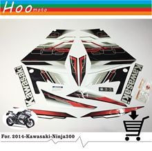 Ninja 300 Full Decals Stickers Graphics Kit Set Motorcycle Whole Vehicle 3M for Kawasaki EX 2013 R Green Fairing