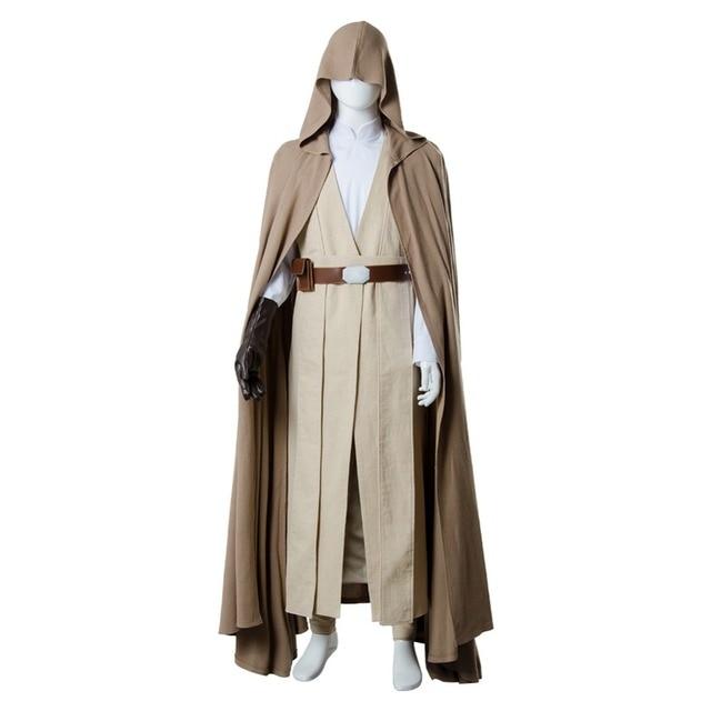 2018 Star Wars 8 The Last Jedi Luke Skywalker Cosplay Costume Robe Halloween Carnival Costume For Adult Men 1