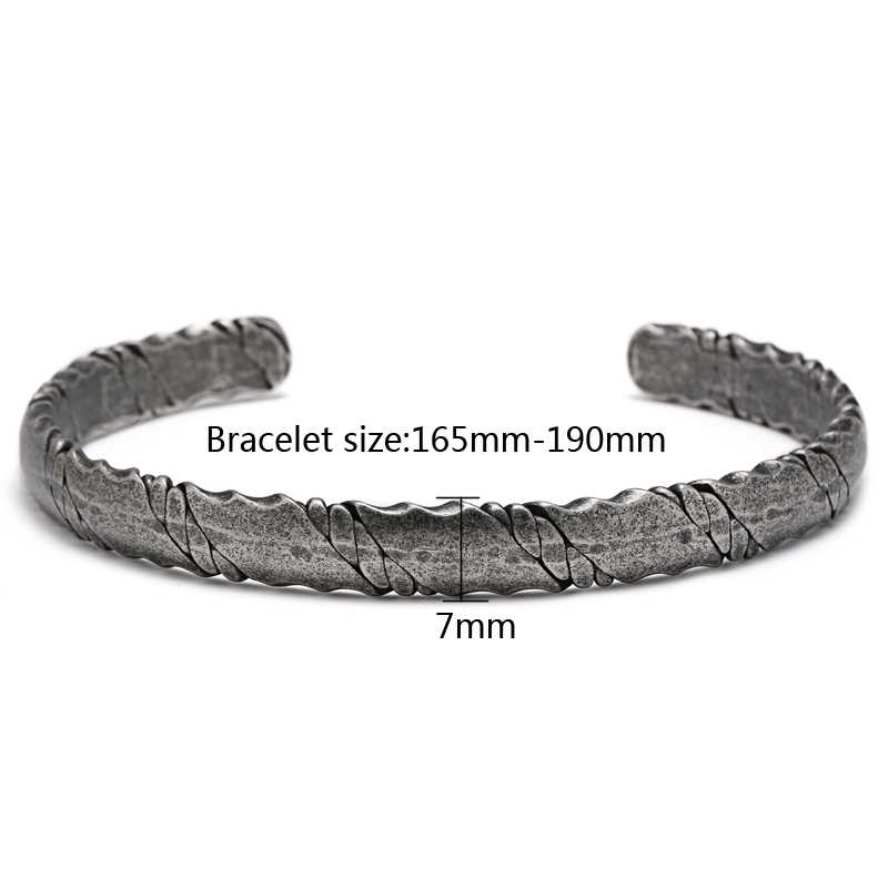 fb38a044335 ... Mcllroy Lovers' Bracelets Men Woman Titanium Steel Simple Female/Male  Twist Bracelet Bangle Bracelet ...