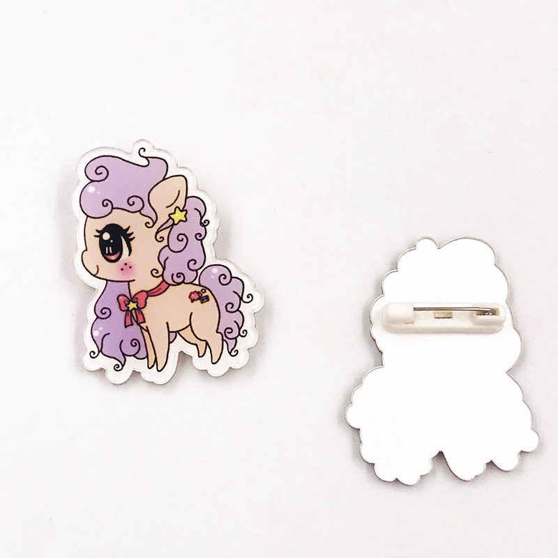 1pcs Cartoon Icons Cool Girl princess Icons Badge on Backpack Brooch Pins For Clothes Acrylic Badges for women girls gift