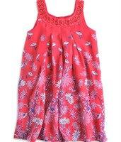 Showhash einzelhandel mädchen kleid neue mode mädchen kleider floral rot mit diamant chiffon top qualität