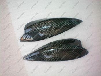 Genuine Carbon Fiber Headlight Eyelids Eyebrows for 2001-2002 Subaru Impreza WRX STi Bug Eye