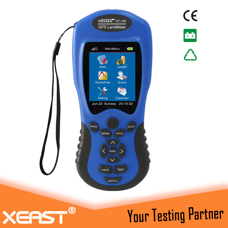 GPS survey equipment use for Farm Land Surveying And Mapping Area Measurement display measuring value figure track Noyafa NF-198 land use information system