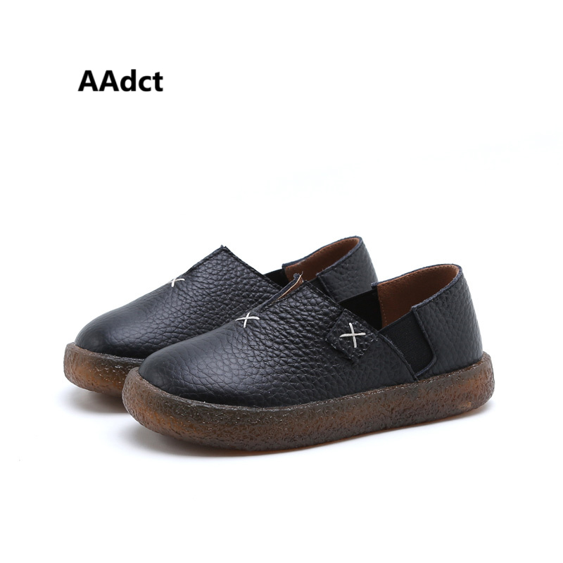 AAdct new leather Comfortable boys shoes Antique Fashionable Children shoes for Autumn High quality kids shoes