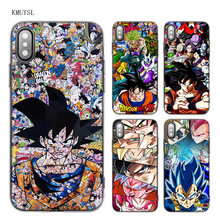 Capa de silicone para iphone 11 pro max xs x max xr 7 8 6s mais 5 5S se 7 plus 7 + casos coque dragon ball z anime goku(China)