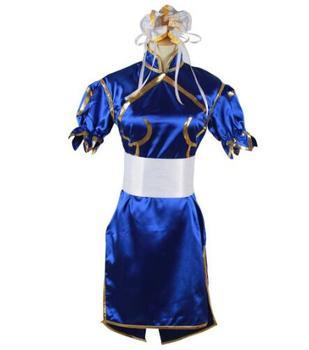 Disfraces de Halloween, ropa de anime, Chun Li, disfraz de cosplay para niñas, vestido elegante, traje de fantasía Cheongsam