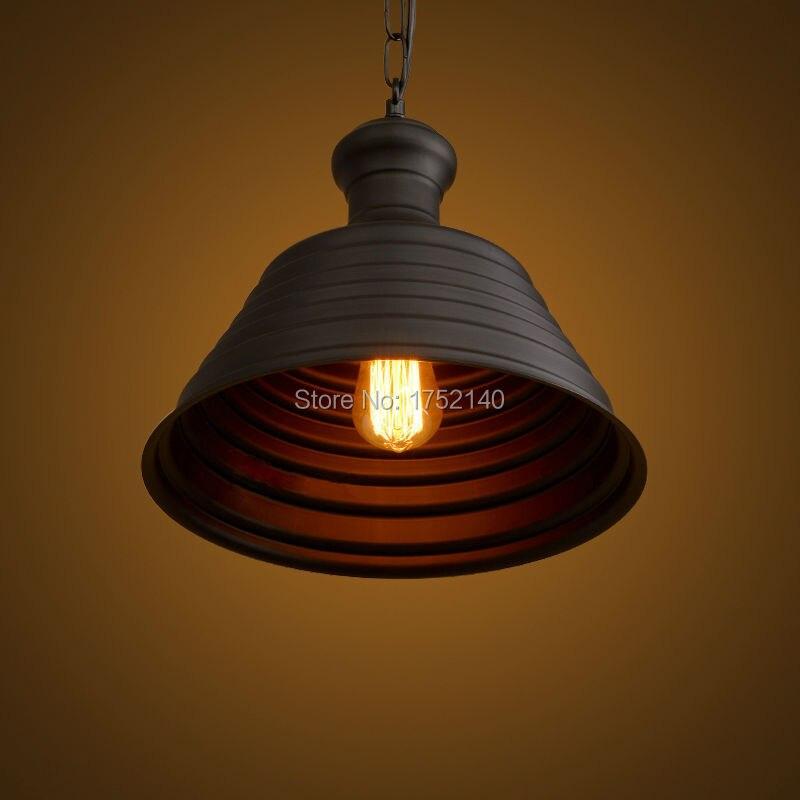 Lámpara colgante de hierro forjado retro de la industria del estilo del desván lámpara creativa de la tapa colgante de la luz de la barra del café iluminación de la ingeniería art decó - 3