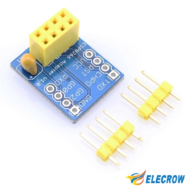 Elecrow Breadboard Adapter for ESP8266 Serial-to-WiFi Transceiver DIY Kit Electronics Fans ESP8266 Serial WIFI Module Adapter