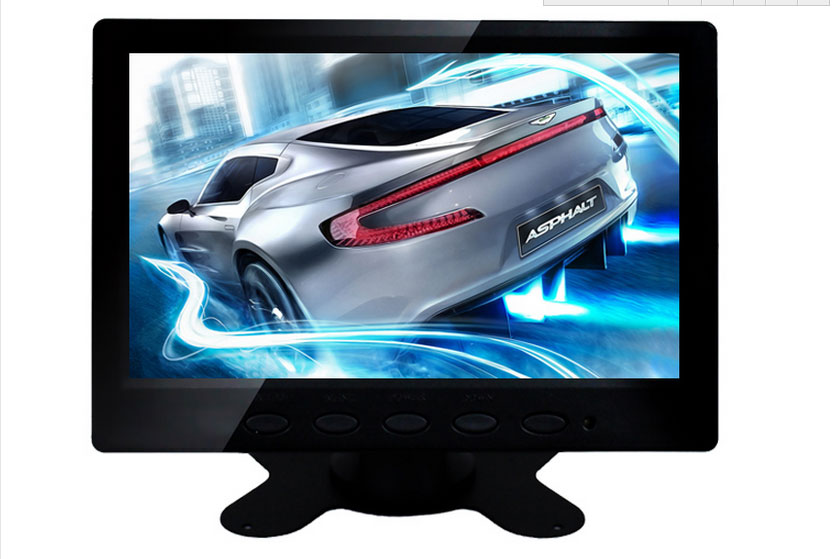 7 inch 1024 * 600 high-definition LCD VGA AV BNC HDMI input digital computer monitor screen 8 inch lcd monitor color screen bnc tv av vga hd remote control for pc cctv computer game security