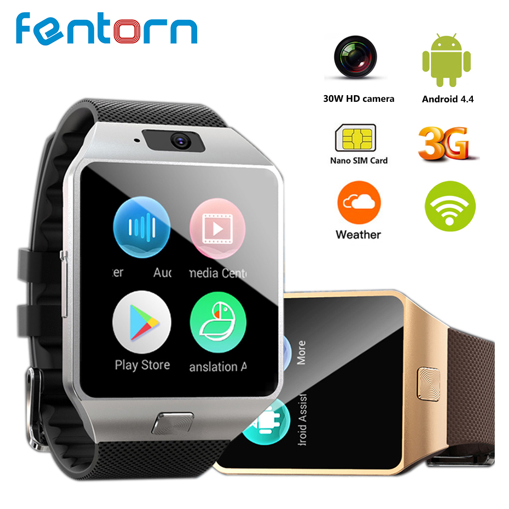 Fentorn QW09 Смарт-часы Для мужчин Android 4,4 MTk6572 512 + 4 GB 3G Wi-Fi Bluetooth Smartwatch MP3 плеер погоду для Android iOS Телефон