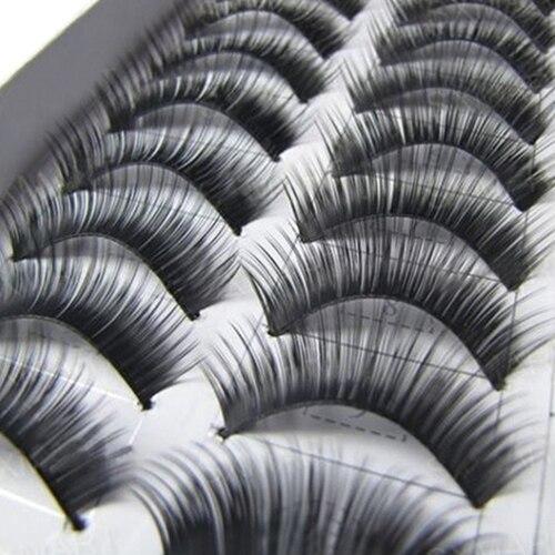 10 Pairs Makeup Handmade Natural False Eyelashes Long Thick Eye Lashes Extension Make Up