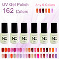 Color UV Gel Nail Polish Gel Long Lasting 5ml soak off Mood Gel Nail Enamel Latest Fashoin 162 Colors hot 6pcs/lot