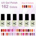 Color UV Gel Nail Polish Gel Long Lasting 5ml soak off Mood Gel Nail Enamel Latest Fashoin 162 Colors hot 6pcs/lot