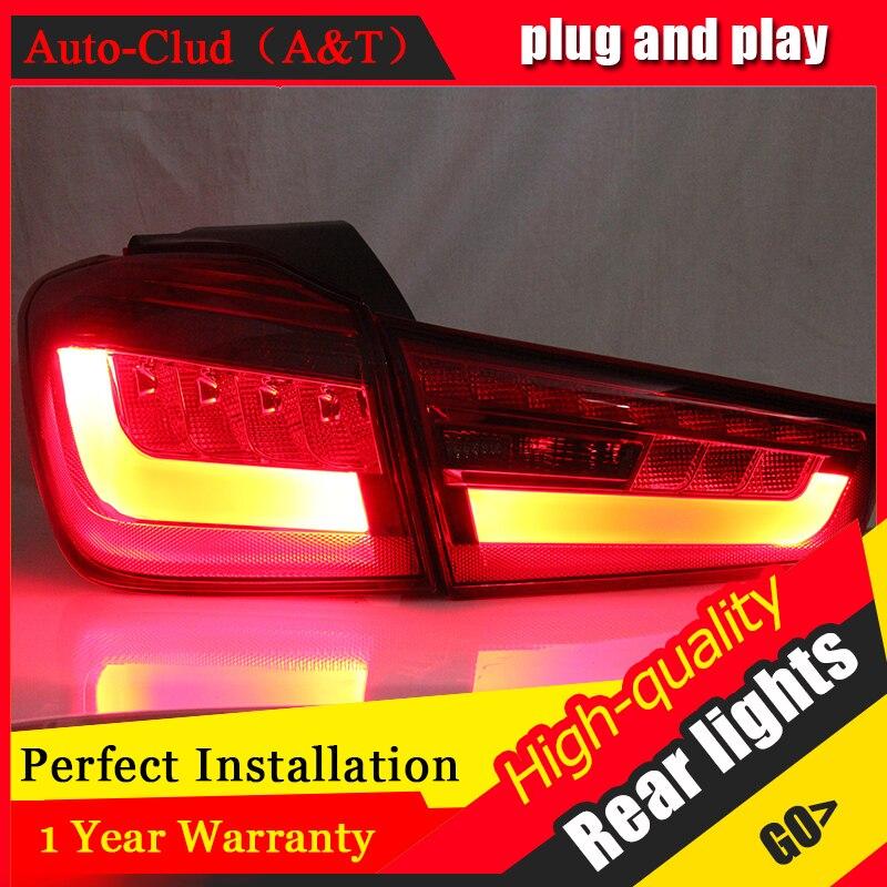 Авто Clud автомобильный Стайлинг для Mitsubishi ASX задние фонари новый ASX светодиодный задний фонарь DRL + тормоз + Парк + сигнальный светодиодный l