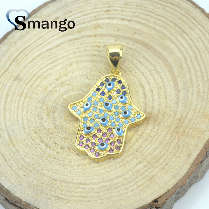 Women CZ Pendant Necklace Fashion Jewelry Pop Charms The Hand Shape Can Wholesale 5Pcs in Pendant Necklaces from Jewelry Accessories