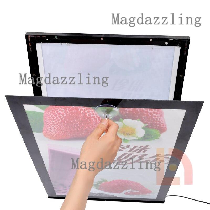 A1 (65x90 cm) magnético Delgado aluminio Marcos LED retroiluminada ...