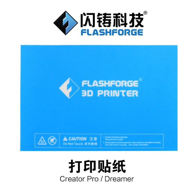 232x154mm  Flashforge Creator Pro/Dreamer 3D Printer Blue Heated Bed Tape Print Sticker Build Plate Tape