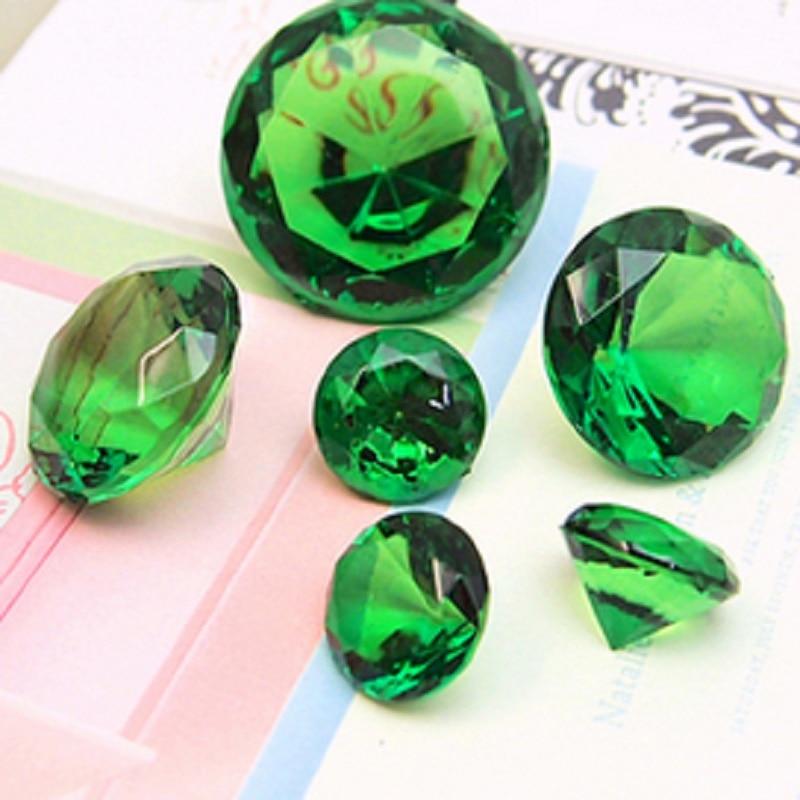 XXL Acrylic Jumbo 40mm Gemstone Table Scatter Confetti Diamonds Wedding Table Deco 10pcs 11 colors For U pick
