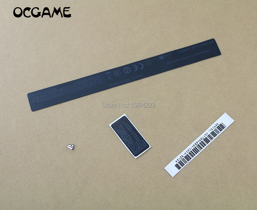 OCGAME High Quality For PS3 Playstations 3 Console Slim CECH-3012A 3K 3000 Housing Shell Sticker Label Seals