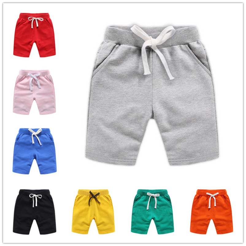 VIDMID 1-10Y Baby girls   shorts   for boys colorful summer cotton trousers kids solid beach   shorts   children's pants 7060 04