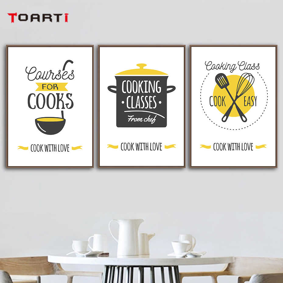 Modern Kitchen Ware Canvas Painting Impressionist Wall Art Lovely Quotes Poster Prints For Dining Room Home Decor Christmas Gift Calligraphy Aliexpress