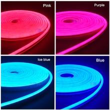5 M DC12V Linh Hoạt Dây Đèn LED Neon Băng SMD 2835 Dây MềM MạI Thanh Ánh Sáng 120 Đèn LED/M Ốp Cao Su ống Ngoài Trời Chống Thấm Nước Nhẹ