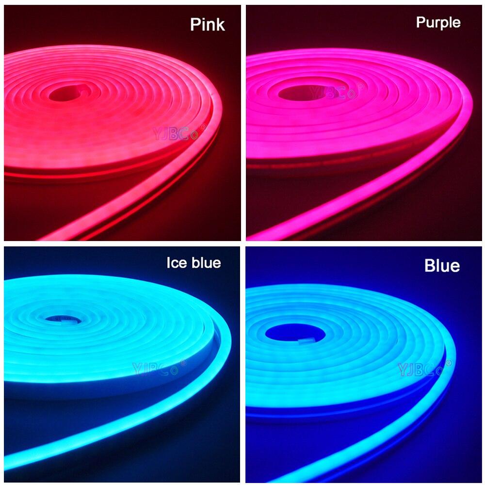 5 m dc12v flexivel tira conduzida neon fita smd 2835 corda macia bar luz 120 leds