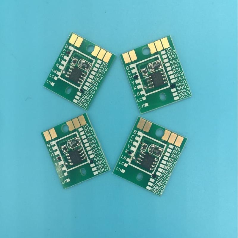 ES3 Auto reset chip C M Y K  For Mimaki JV33 JV5 JV3 eco solvent plotter printer Permanent Chip Cartridge Chip 4pcs
