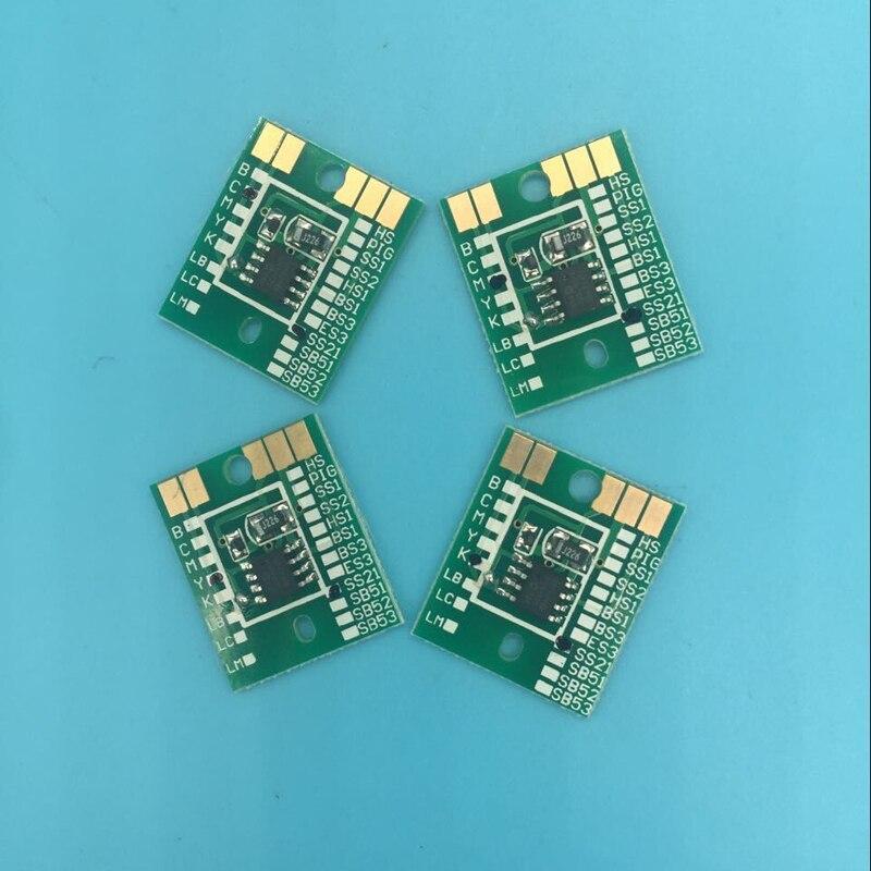 ES3 réinitialisation Automatique puce C M Y K Pour Mimaki JV33 JV5 JV3 éco solvant traceur imprimante Puce Permanent Cartouche puce 4 pcs