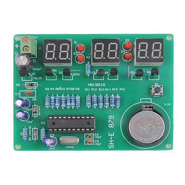DIY Kit Module 9V-12V AT89C2051 6 Digital LED Electronic Clock Parts Components Diy Elec ...
