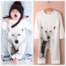 Kamimi 3D Printing Bear/Tiger/Panda Style 100% Cotton Romper for 0-36M Newborn Baby Boys girls Animal clothes Infant jumpsuit