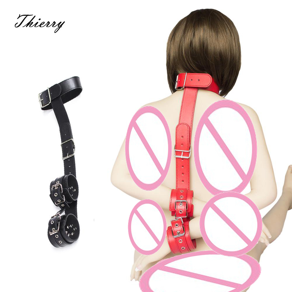 Thierry female Hands Neck Connecting Fetish  Wrist Cuffs Collar Bondage Restraints flirting Sex Toys For adult game cosplayThierry female Hands Neck Connecting Fetish  Wrist Cuffs Collar Bondage Restraints flirting Sex Toys For adult game cosplay