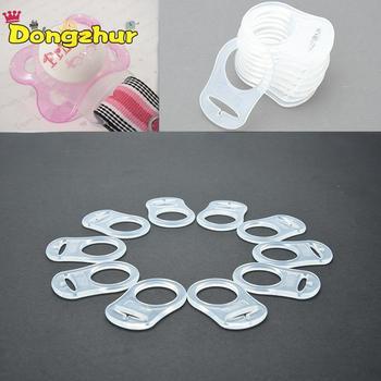 1 Uds. Baby Dummy chupete Holder Clip adaptador para el anillo de mamá de silicona botón claro/rosa/azul/naranja Color