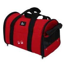 Durable L Pet Dog Cat Portable Travel Carrier Tote Bag Crates - Big Red